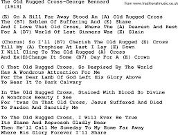 The Old Rugged Cross Hymn Rugs Lyrics Old Rugged Cross Yylc Co