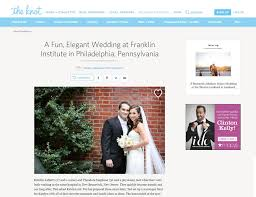 wedding websites search the knot a wedding at franklin institute in