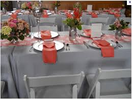 cheap wedding linens cheap wedding reception images coral gray coral and grey