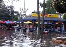 Jackson New Jersey Weather Six Flags Video Flash Flooding Spurs Temporary Ride Closure At Great