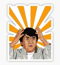 funny meme jackie chan stickers redbubble