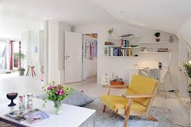 fabulous apartment decorating ideas amaza design awesome scandinavian inspired apartment decorating idea with hanging wall bookshelf also trendy yellow living room chair