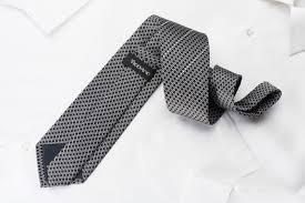 vigevano silk necktie silver trellis u0026 striped rhinestones on black