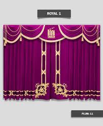 Plum Velvet Curtains Velvet Drapes Panels Home Decor Decorative Curtains Theater
