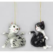 cat ornaments the mouse