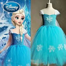 frozen costume disney frozen dress elsa snow white princess kids
