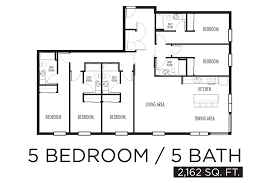 five bedroom floor plans five bedroom home plans luxamcc org