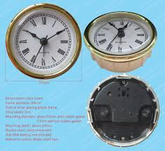 65mm quartz alarm clock insert clock fit up mini alarm clock