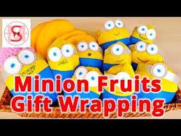 minion gift wrap despicable me minion gift basket how to wrap fruits creatively