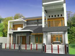 modern front house design with terrace