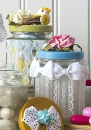 spring crafts diy lace jars mod podge rocks pretty spring crafts always use lots of lace add lace to jars with mod podge