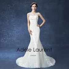 Wedding Dress Sample Sale London Beautiful Mermaid Lace Illusion Back Wedding Dresses On Sale