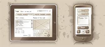 a collection of free wireframe templates