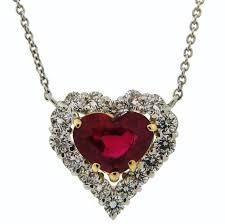 elegant heart necklace images Graff heart shape ruby diamond platinum pendant necklace at 1stdibs JPG