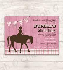 Free Birthday Invitation Cards To Print Birthday Invitations Free Printable Horse Birthday Invitations