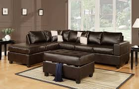 dark brown storage ottoman area rugs dark brown bonded leather lounger sofa with pillows