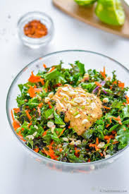 kale and carrots salad with chili lime peanut dressing recipe