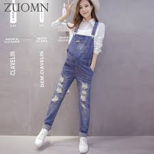 pregnancy jumpsuit maternity holes denim overalls jumpsuit