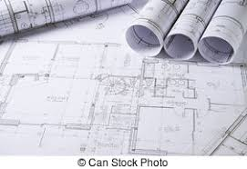 stock photo of architecture plans architectural drawings with
