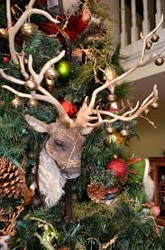 luxury deer head christmas tree topper 56 for with deer head