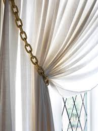 how to make gold chain curtain tiebacks hgtv