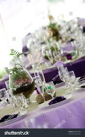 Fine Dining Table Set Up by Wedding Tables Set Fine Dining Green Stock Photo 98824394