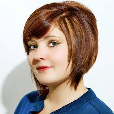 a symetric hair cut round face hairstyles short asymmetrical haircuts for round faces short