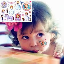 aliexpress buy cute sofia princess cartoon tattoo