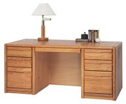Solid Oak Office Desk Choose From Matching Pieces Furnish Your Entire Office