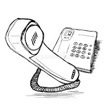 telephone hand drawing sketch stock vector image 54139696