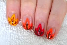 fall leaves nail design youtube
