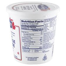 Nutrition Facts For Cottage Cheese by Michigan Brand 1 Milkfat Low Fat Cottage Cheese 24 Oz Meijer Com