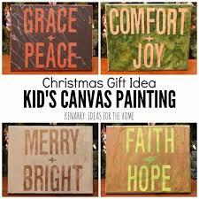 kid u0027s canvas art painting an easy christmas gift idea