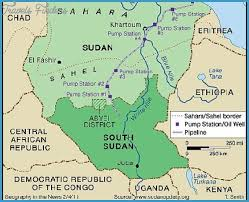 africa map khartoum khartoum map travelsfinders