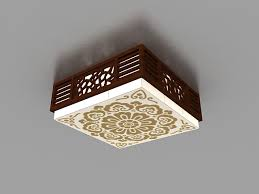 Japanese Ceiling Light Japanese Style Ceiling Light 3d Model 3ds Max Files Free