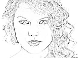 realistic people coloring pages taylor swift luxurious dress