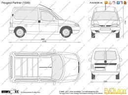 the blueprints com vector drawing peugeot partner peugeot partner