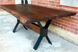 live edge outdoor table album reclaimed barns and beams llc