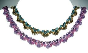 crystal necklace patterns images Crystal lace necklaces jpg