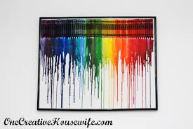 How To Get Crayon Off The Wall by One Creative Housewife Melted Crayon Art