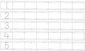 handwriting worksheets with numbers printable worksheets on tracing numbers from 1 to 5 traceable number worksheet