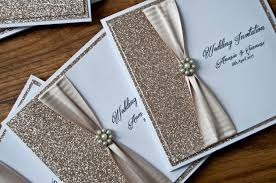 wedding invitations glitter chagne glitter wedding invitation