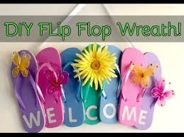 flip flop wreath diy flip flop welcome wreath dollar tree