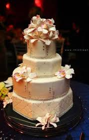 creative cake factory palms u0026 orchids wedding cake orange and