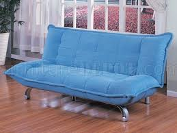 212 Modern Furniture by Blue Modern Sofa Bed In Microfiber Upholstery