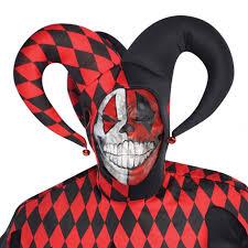 Evil Clown Halloween Costumes Krazed Jester Evil Clown Fancy Dress Halloween Costume Mens Adults