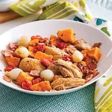 cuisiner patates douces délice de hauts de cuisses et patates douces soupers de semaine