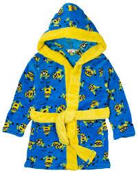 robe de chambre enfants boys despicable me minions fleece bath robe dressing