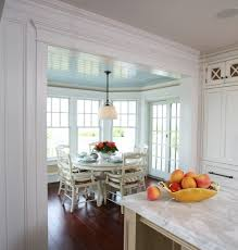 dining breakfast nook kitchen beach style with white wood sliding