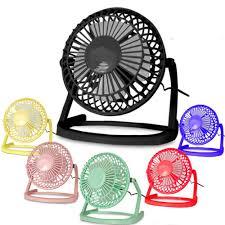 Laptop Desk Fan Usb Electric 4 Metal Fan 360 Rotate Metel Mute Radiator Fan